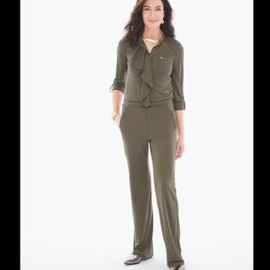 NWT-Chico's Ruffled Utility Jumpsuit